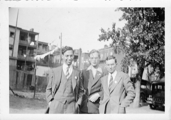 With Frederik Pohl and John Michel c. 1938
