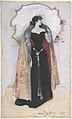 Woman in evening clothes and cape standing in front of mirror MET DP804398.jpg