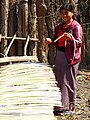 Woman with Bamboo Strips Drying for Rope - Outside Hsipaw - Myanmar (Burma) (12222268466).jpg