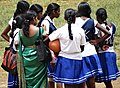 Women on Playing Field - Bandarawela - Hill Country - Sri Lanka (13934541069).jpg