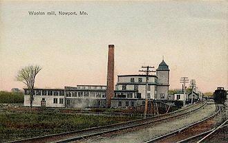 Newport, Maine - Woolen mill c. 1920