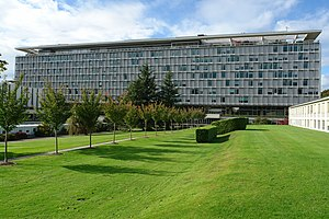 Global health - Headquarters of the World Health Organization in Geneva, Switzerland.