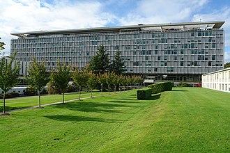 Global health - Headquarters of the World Health Organization in Geneva, Switzerland.