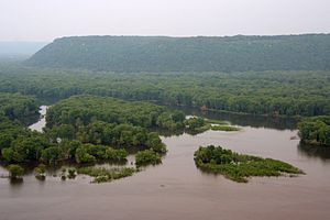 Wyalusing State Park - Wyalusing State Park seen from the west