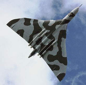 Avro Vulcan XH558 - XH558 (underside) during the 2009 Cosford Airshow