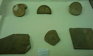 Roof tiles in a museum