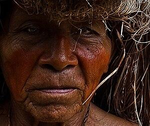 Yagua people - A Yagua elder near Iquitos, Peru