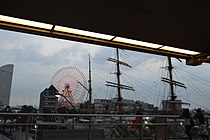 Yokohama Cosmo World and Nippon Maru.JPG