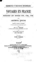 Voyages en France en 1787, 1788 et 1789
