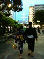 Yukata people going to Takeshiba.jpg