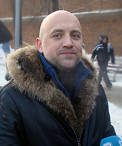 Zakhar Prilepin at Nizhny Novgorod rally, 4 February 2012.jpg