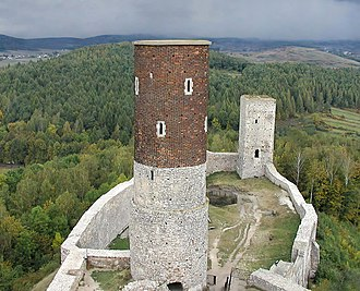 Chęciny Castle - View from the castle tower