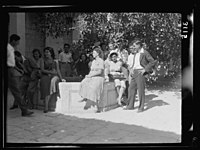 Zionist activities in Palestine. The Hebrew University recess on the campus. Co-educational group LOC matpc.15179.jpg