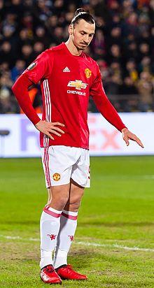 3571a242ede Football boot - Footballer Zlatan Ibrahimović wearing red boots