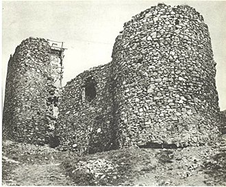 Avala - Žrnov fortress, destroyed in 1934