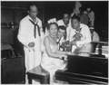 """Dorothy Donegan, pianist, and Camp Robert Smalls swing band at NTS, Great Lakes."", 06-16-1943 - NARA - 520669.tif"