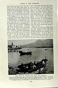 """""""Italy and Italians"""", from """"People of All Nations"""" by J. A. Hammerton - Bay of Naples.jpg"""