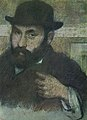 'Bust man with the soft hat', by Edgar Degas.jpg