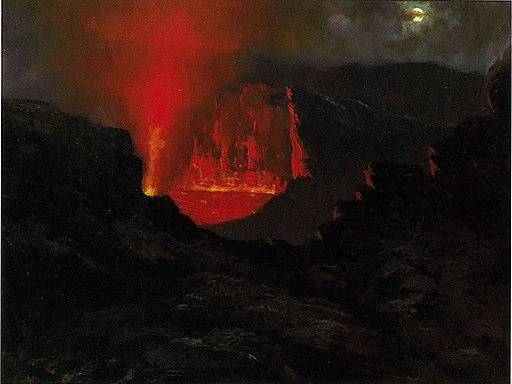 'Kilauea Fire Fountain' by Jules Tavernier, 1884