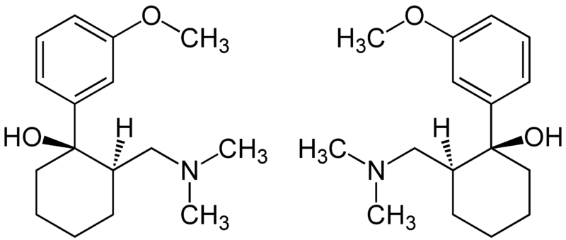 File:(1R,2R)- & (1S,2S)-Tramadol Enantiomers Structural Formulae.png