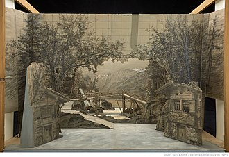 William Tell (opera) - Set design for Act 1 in a 19th century production