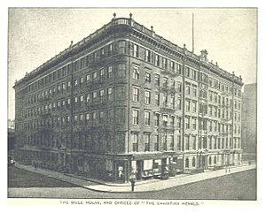 American Bible Society - The Bible House and offices of the Christian Herald, built 1853, seen here 1893, demolished 1956
