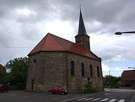 The Protestant church in Petersbach