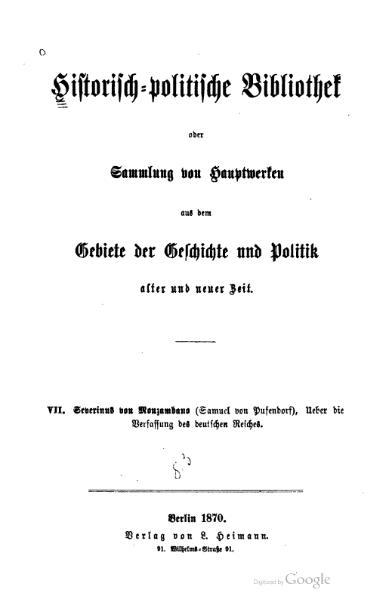 File:Über die Verfassung des deutschen Reiches.djvu