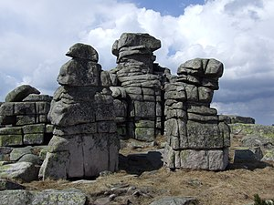 Outcrop - Granite outcrops at Silesian Stones Mountain in southwestern Poland.