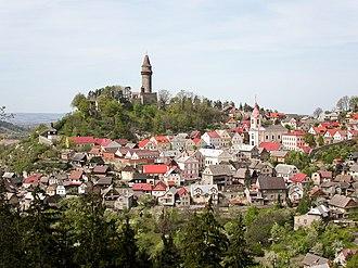 Štramberk - General view of the town from Šipka Cave