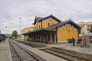 Hellenic Railways Organisation - Volos station (1892) designed by Evaristo De Chirico.