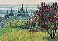 Весняні чари. Видубичі. 1978 р. Картон, олія. 50х69.jpg