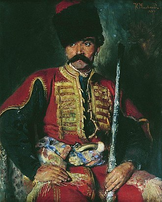 Cossacks - Zaporozhian cossack by Konstantin Makovsky, 1884