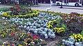 Клумба с цаплей на пр. Достык-Дружба - panoramio.jpg