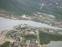 Aerial view of Monchegorsk