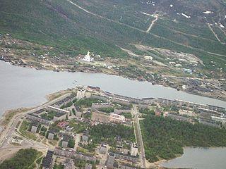 Town in Murmansk Oblast, Russia