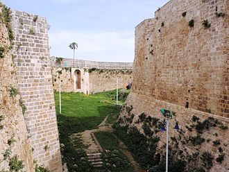 Jazzar Pasha - The former moat of Acre and fortifications built by al-Jazzar