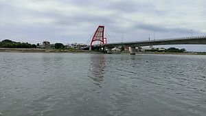 Touqian River - Bridge near the river mouth