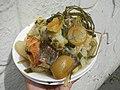 0099Nilagang repolyo, petsay Tagalog, kamote, patatas, kamatis at Pritong Dalag (Bulig) sa tanglad 35.jpg
