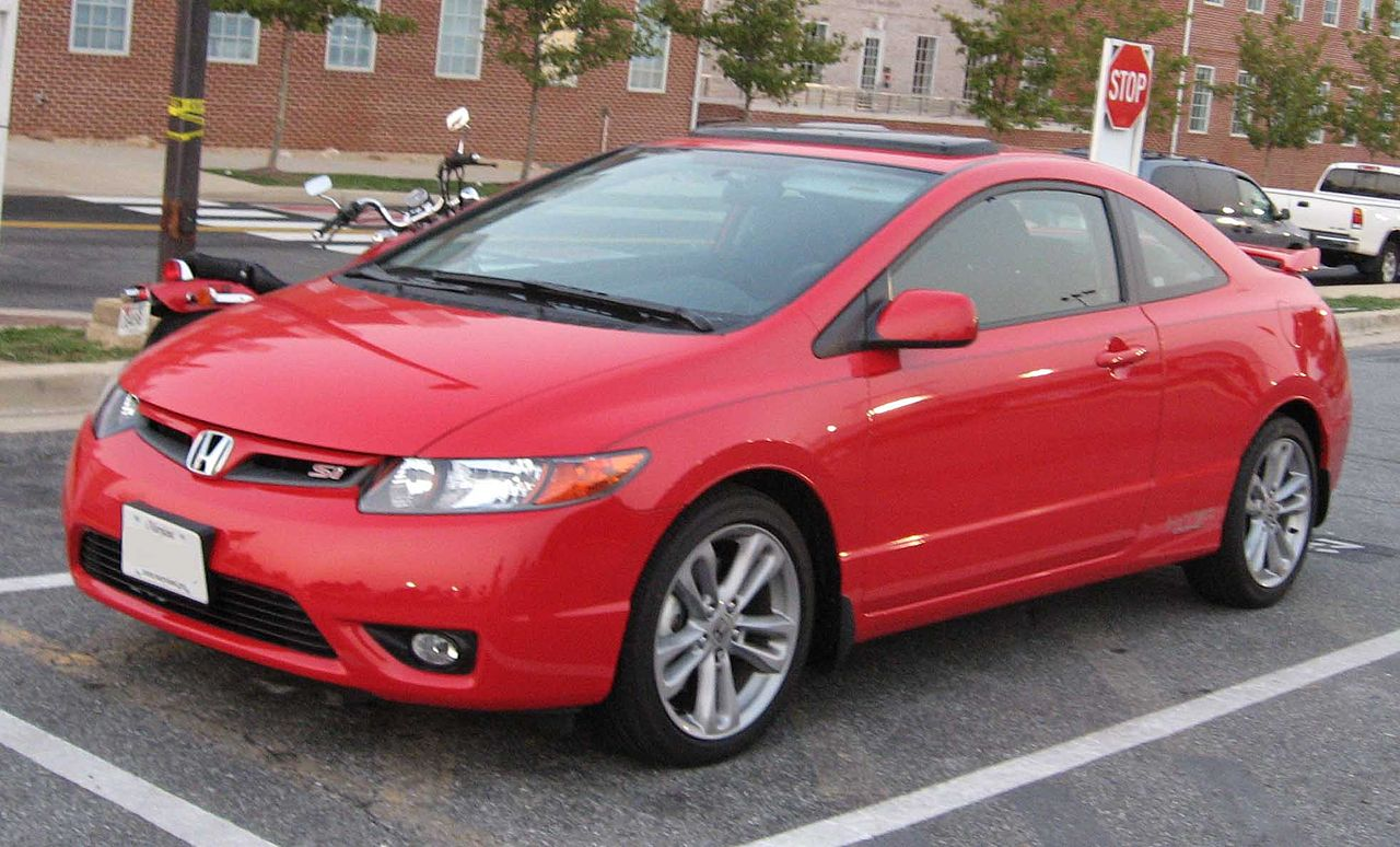 Honda Civic 2007 Coupe >> File:06-07 Honda Civic Si coupe 1.jpg - Wikimedia Commons