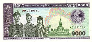 currency of Laos since 1952