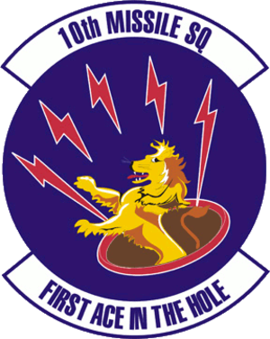 341st Missile Wing LGM-30 Minuteman Missile Launch Sites - Emblem of the 10th Missile Squadron