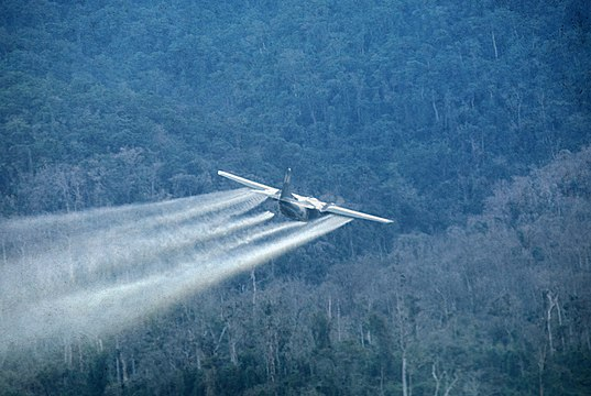 Air Force aircraft spraying Agent Orange, From WikimediaPhotos