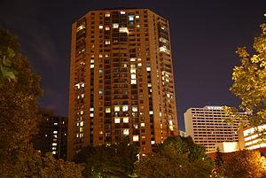 110 Grant Apartments - One Ten Grant Apartments at night
