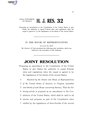 116th United States Congress H.J.Res. 032 (1st session) - 116th United States Congress H.J.Res. 032 (1st session) - Proposing an amendment to the Constitution of the United States to give States the authority to.pdf