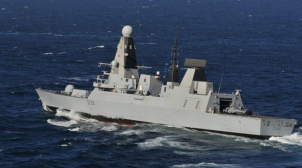 120306-N-ZI635-608 Royal Navy destroyer HMS Daring (D32)