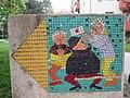 1210 Aistgasse 8-30 - Mosaik-Wegweiser (1) von Hilde Leiter 1969 IMG 3508.jpg