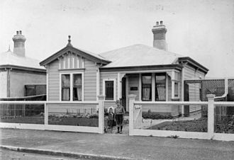 State housing - 13 Patrick Street in Petone was one of the first houses constructed under the 1905 Workers' Dwellings Act