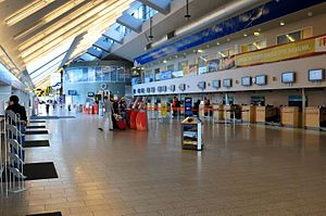 Tallinn Airport - Inside view of Tallinn Airport.