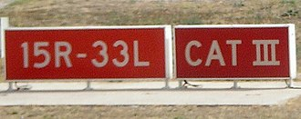 Runway - Runway sign at Madrid-Barajas Airport, Spain